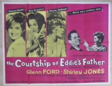 Courtship of Eddie's Father, Orig UK Quad Poster, Glenn Ford, Ron Howard, '63